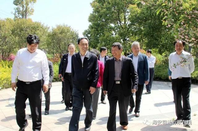 南通市委政法委调研海安县大公镇平安法治建设工作