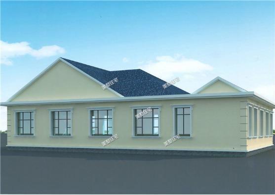 别墅的背面有很多的窗户,所以通风和采光并不是问题.