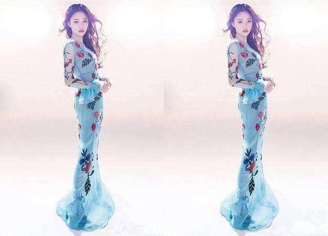 穿鱼尾裙的女明星们,赵丽颖像女王,杨颖最美,她才是美人鱼本人