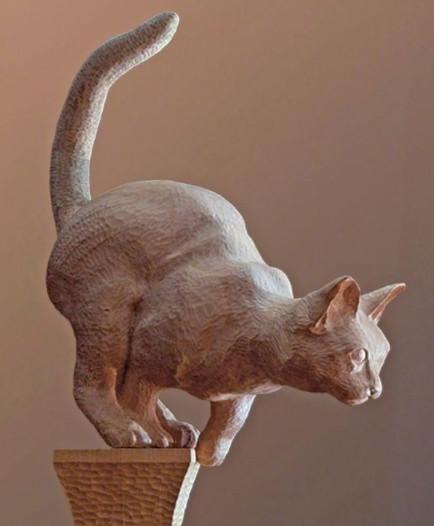 心理测试:测哪种男生会最疼你!选一个你最喜欢的猫形雕塑
