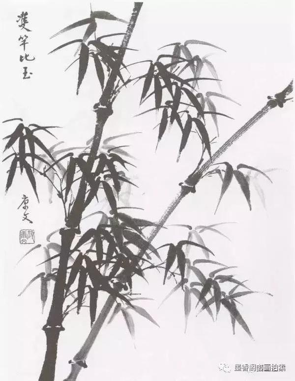 国画教学:竹子水墨写意画,写意竹子画法画法步骤图