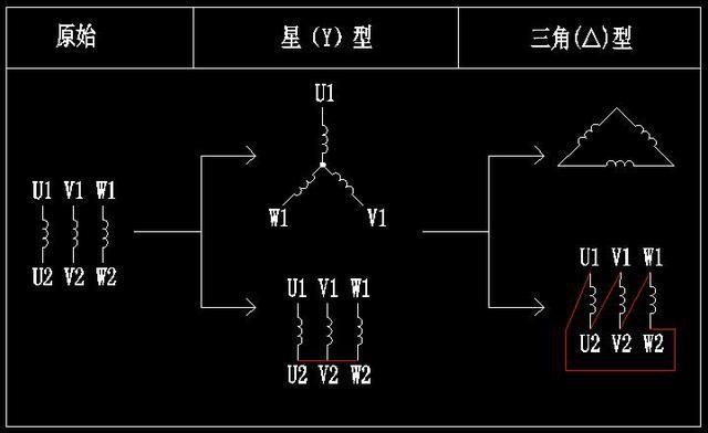 星三角启动电气控制图详解