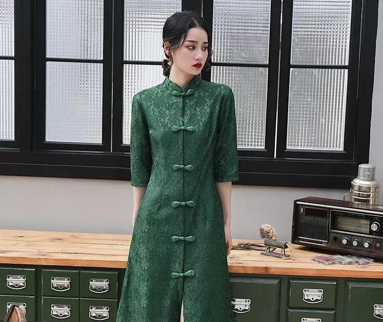 开衫复古旗袍,简易轻奢,时尚版型方便穿脱!