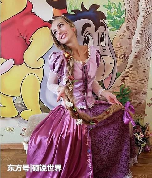 现实版长发公主,乌克兰女子28年不剪发,太漂亮了