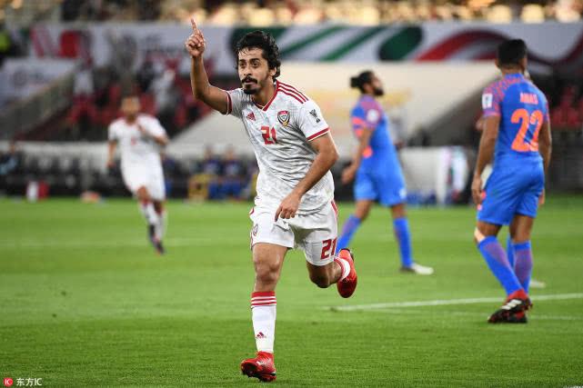 亚洲杯-阿联酋2-0印度迎首胜 2轮积4分升至头