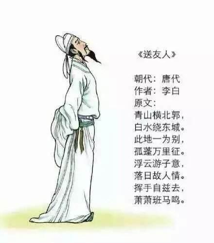 李白的简笔画步骤