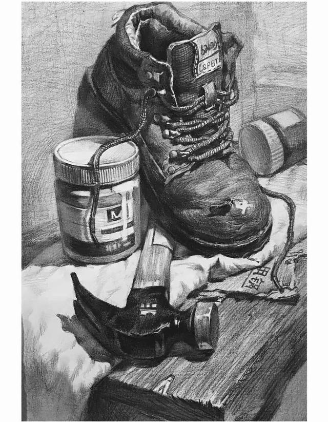 素描教程|鞋子画法图片