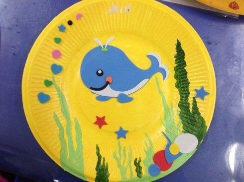 幼儿园亲子手工之废物利用:纸盘动物制作大全,飞鸟小蛇蓝鲸鱼等 小纸