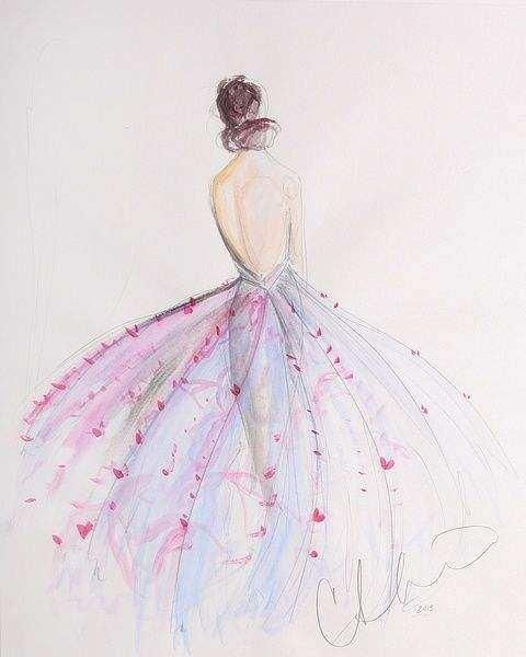 十二星座的专属手绘仙女裙,我是双鱼座,花容月貌,世人