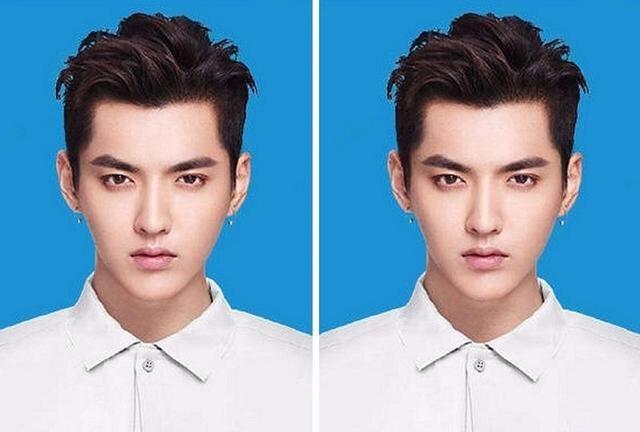 男明星的蓝底证件照,易烊千玺可爱,王俊凯养眼,王源的