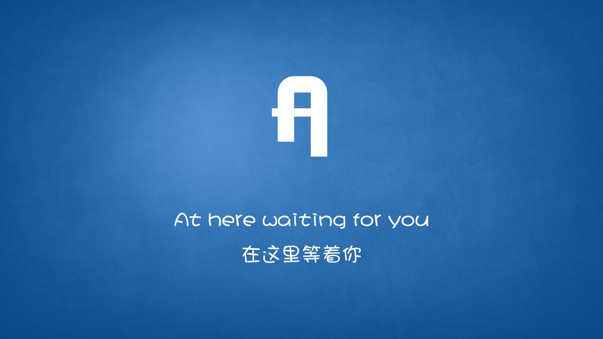 26個英文字母詮釋的愛情簡約寬屏壁紙
