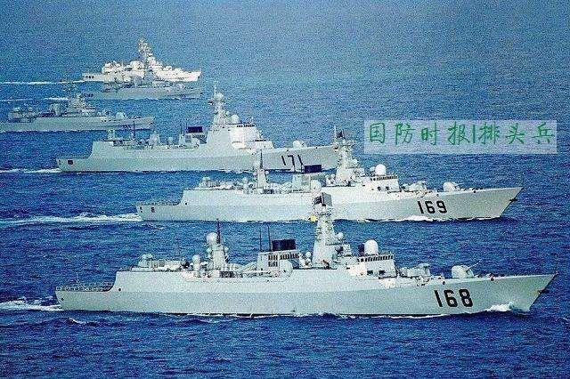 印媒称: 中国海军战舰四倍于印度