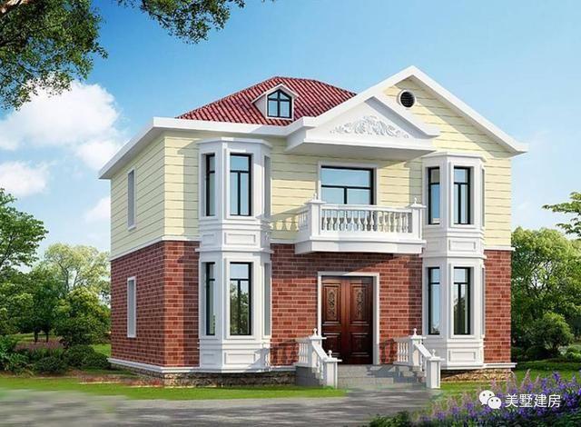 61平方米, 参考造价:15万左右 农村自建房款式七十一 占地尺寸:11x9.