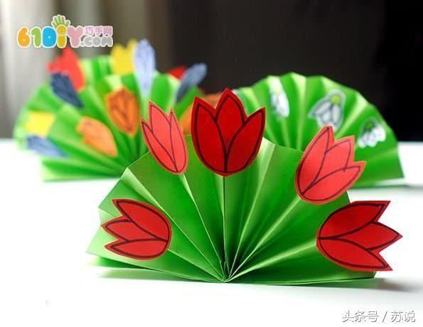 幼儿手工制作春天的立体花丛