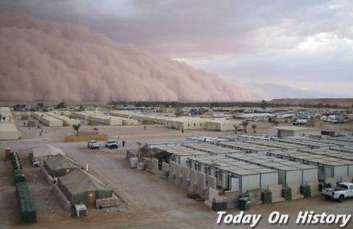 甘肃、内蒙古、宁夏发生特大黑风暴 造成85人死亡