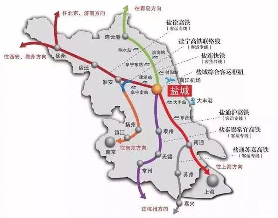 江阴将进入高铁时代!江苏新增10条高铁线!