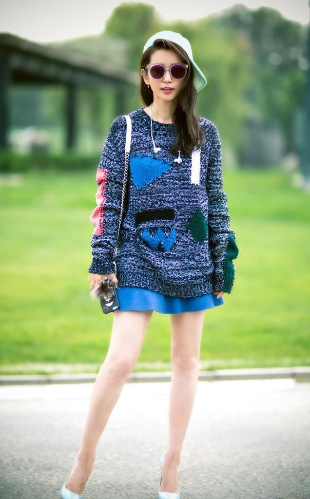 45岁李冰冰俏皮少女装扮超显嫩,杨幂地位不保网名女生英文的a少女图片