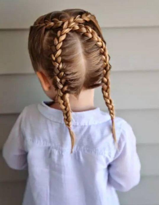 六一儿童节,甜美可爱女孩发型收起来!