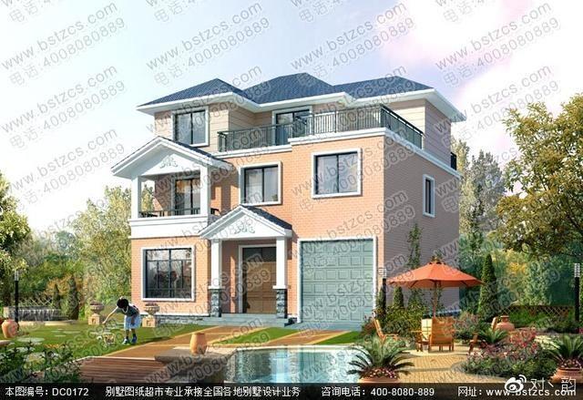 图纸属性 编号:DC0172 层数:三层 结构形式:砖混结构 主体造价:22-27万 开间:11.74米 进深:10.34米 占地面积:117.85平方米 建筑面积:307.92平方米 图纸内容 建 筑 图:建筑设计说明、一层平面图、二层平面图、三层平面图、屋顶平面图、正立面图、背立面图、左立面图、右立面图、剖面图、楼梯详图、门窗表、节点详图 结 构 图:结构设计说明、基础平面布置图、基础详图、柱位布置图、二层梁施工图、三层梁施工图、屋面梁施工图、二层板配筋图、三层板配筋图、屋面板配筋图、楼梯配筋图、节