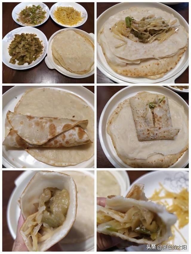烙馍卷菜,平常美食永恒的美味的红楼梦百姓描写里图片
