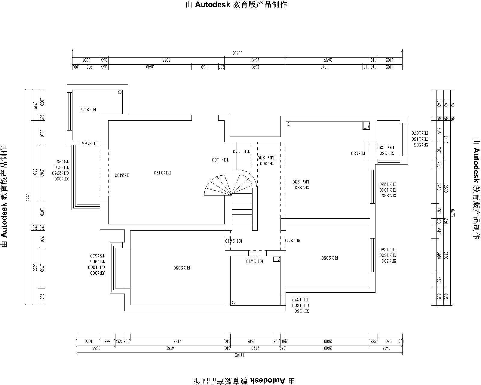 36平米三居室房子的户型图.