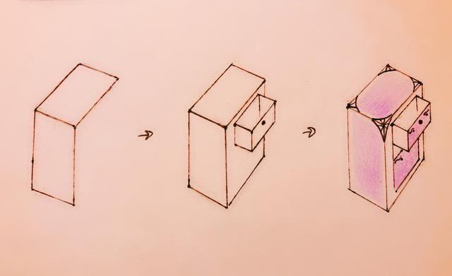 手账简笔画素材 教你快速画储物柜简笔画,一起做收纳达人吧