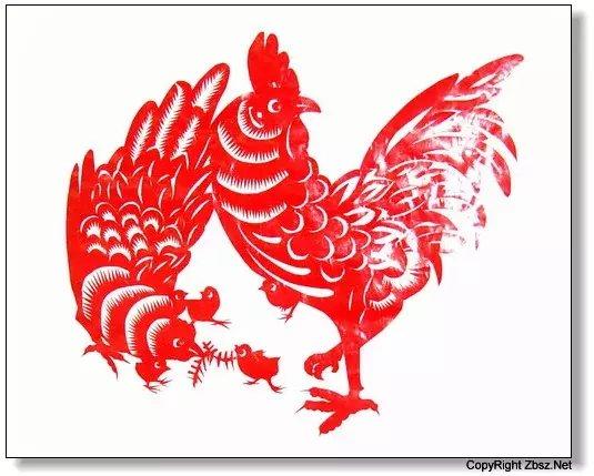 关于鸡的剪纸图案大全
