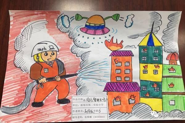 郑州市公安消防支队开展少年儿童消防绘画大赛图片