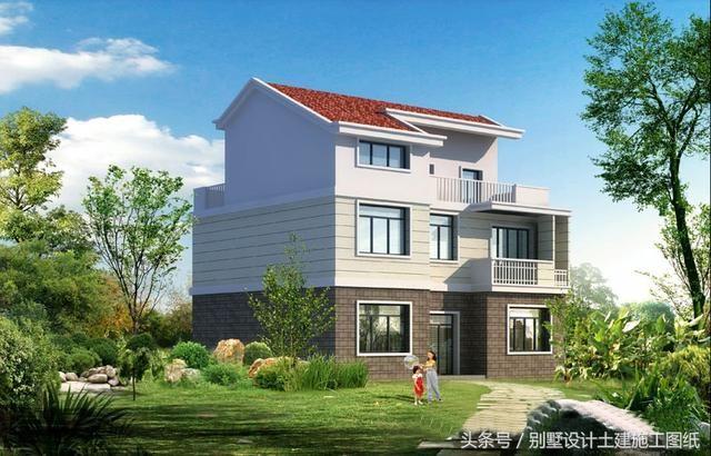 经济适用的三层农村自建房图纸 三套造型美观户型实用