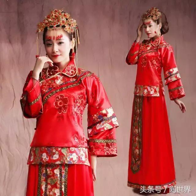中式婚礼之新娘礼服,穿状元袍,佩戴凤冠霞帔!美极了
