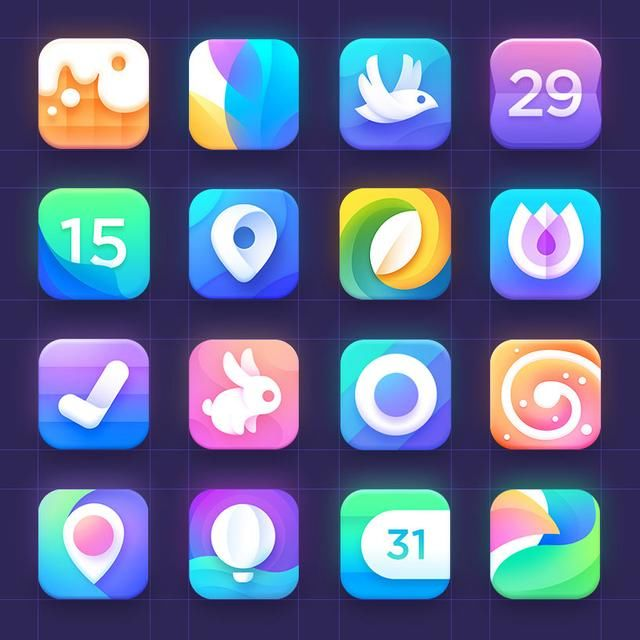 酷炫app logo图标ui设计展示