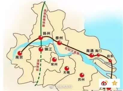 2,北沿江高铁(合肥-南京-扬州-泰州-南通-上海)