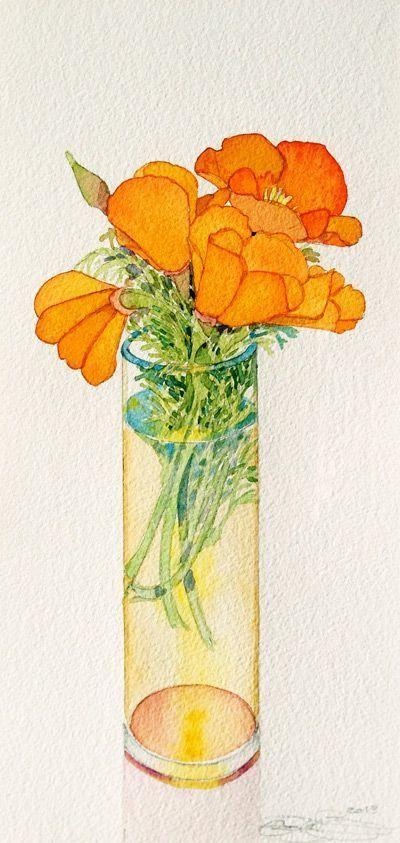 gary bukovnik水彩笔下的花卉及植物
