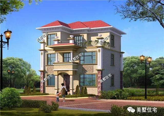 最新款农村自建三层别墅图纸,欧式经典大赏,款式各不同