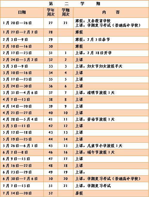 新校历发布!下周一徐州学期中小学v学期全市,离深圳七高中三十图片
