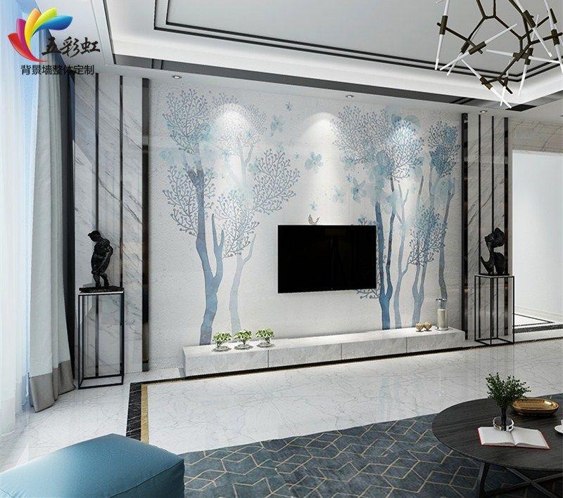 3,简约现代北欧风格电视背景墙装修效果图