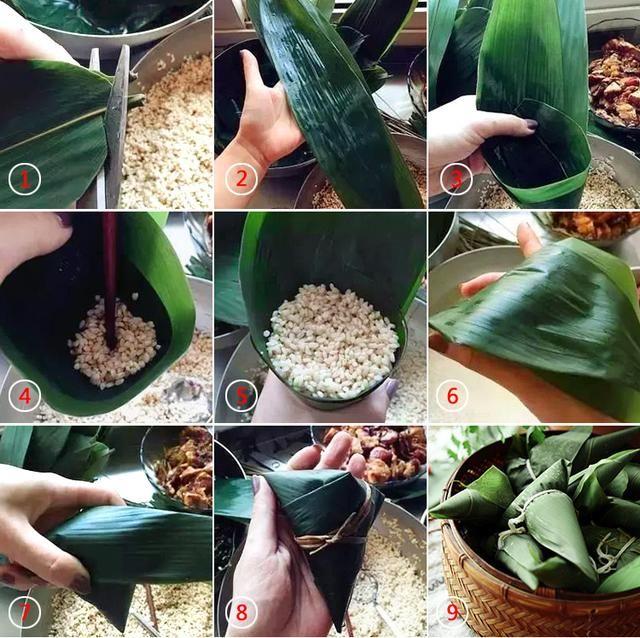 简单易学的粽子包法,浓情端午亲手做一个美味粽子吧!