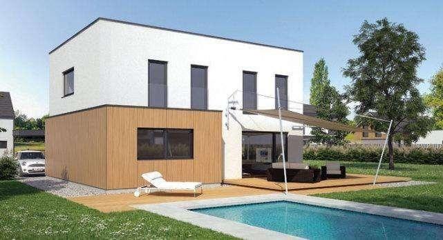 2套小面宽农村别墅,30万建成,带泳池欧式好还是传统中式小院好?