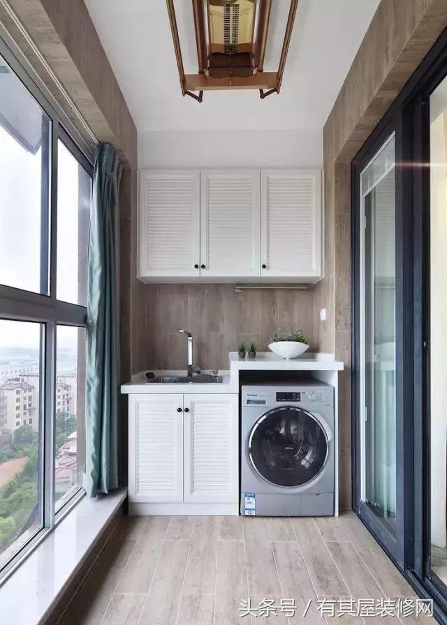 小户型装修,洗衣机放在哪里比较好?图片