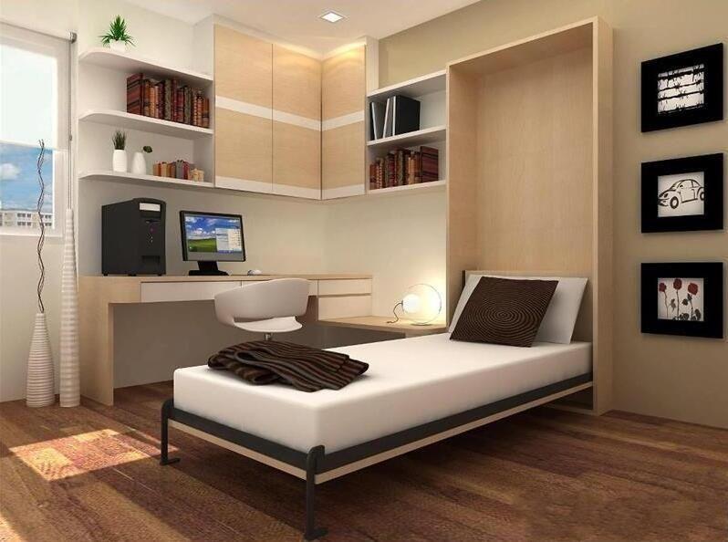 柜子和床一體效果圖書房床裝修效果圖欣賞 實用美觀兩