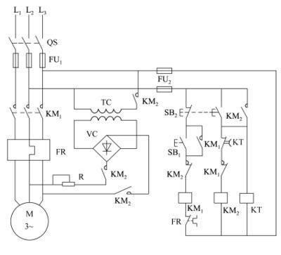 电工知识:三相异步电动机能耗制动原理