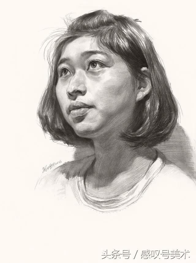 素描头像绘画步骤欣赏,教你如何按步骤画出这样的素描
