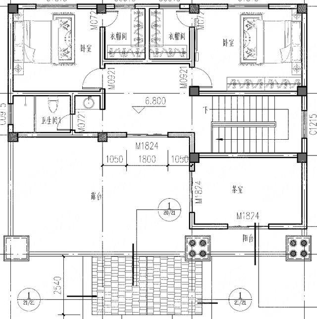 结构形式:框架结构 主体造价:37万 平面图展示 一层:车库,门厅,挑空