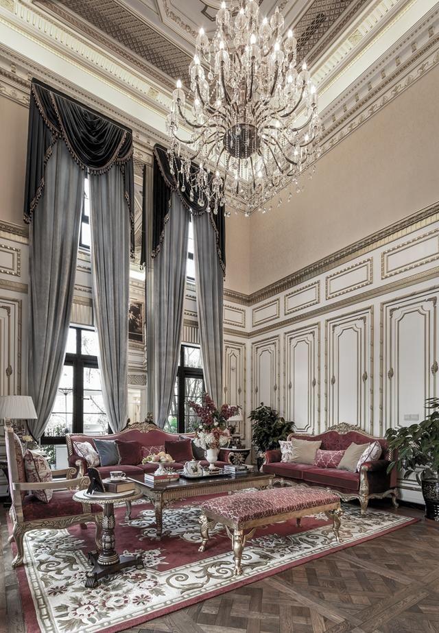室内设计别墅丨案例机床大师风格高端设计宫廷罩壳素材设计图片
