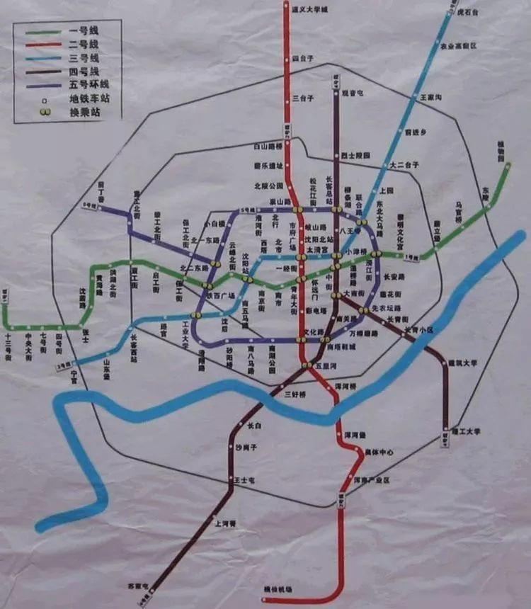 沈阳地铁规划图