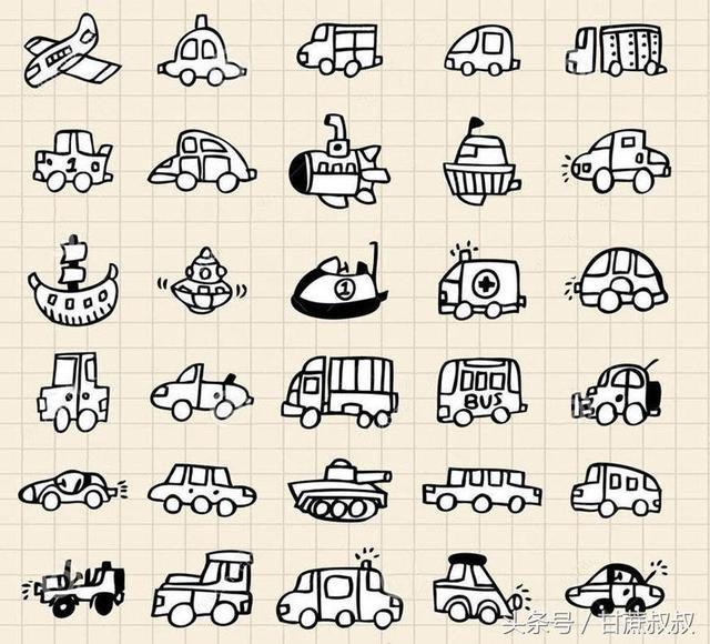 简单易学简笔画图片大全 日记天气交通工具房子等_【今日爆点】
