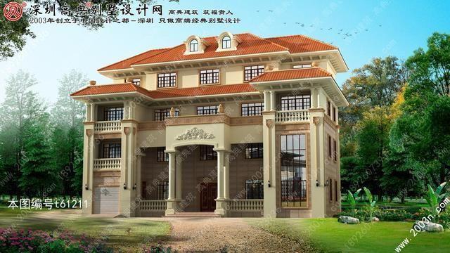 江西省宜春市袁州区欧式四层别墅外观效果图