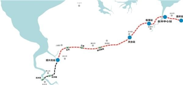 去年12月23日,位于天台县白鹤镇小岙村的九龙山隧道,作为杭绍台高铁的
