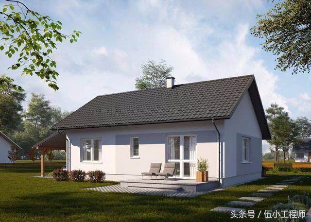 农村自建平房,与庭院的亲水平台相结合,呈现乡村风情的生活格调图片