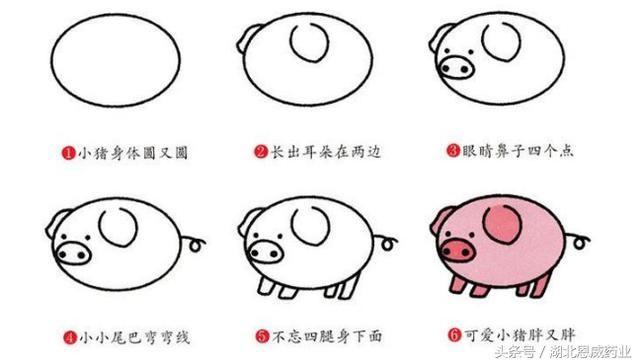 8种动物简笔画,1分钟学会,孩子的情操就应该这样被陶冶!